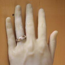 10k white gold .025ct mens round diamond wedding band ring 4.4g gents