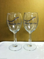 Temecula Crest Winery California set of 2 stemmed footed wine glasses  NK4