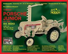 Oldtimer Traktor Porsche junior von 1958 Holzbausatz 80243 Weico 1:24