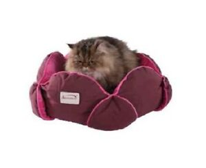 """NEW Armarkat Burgundy & Pink 15"""" Pet Cat Kitten Kitty Small Dog Puppy Bed"""