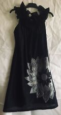 Ax of Paris stunning unusual designer little black dress Size 8 REDUCED
