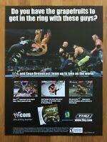 WWF Royal Rumble Sega Dreamcast 2000 Vintage Poster Ad Art SNES Official WWE