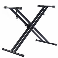 Adjustable Music Keyboard Electric Piano X-Stand Metal Dual Tube Standard Rack