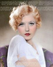 MARION DAVIES SOFT PORTRAIT 8X10 BEAUTIFUL COLOR PHOTO BY CHIP SPRINGER
