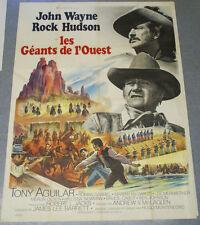 Affiche de cinéma : LES GEANTS DE L'OUEST d'Andrew V. McLAGLEN