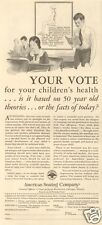 1930 vintage American Seating Company SCHOOL DESK Student YOUR VOTE Teacher Ad