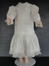 ROBE en coton pour/de POUPEE ANCIENNE 73cm .ANTIQUE DOLL DRESS.-Made in FRANCE