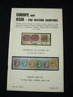 ROBSON LOWE AUCTION CATALOGUE 1973 EUROPE ASIA & FAR EAST