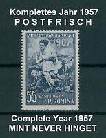 Rumänien 1957 komplettes ** Jahr,Mi.1632-1696,Complete Year 1957