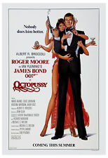 James Bond: * Octopussy * Roger Moore USA  Movie Poster 1983 Large Format 24x36