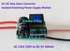 AC Converter 110V 220V to DC 5V 560mA 3W Regulated Transformer LED Power Supply