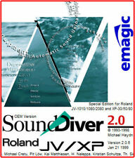 Emagic SoundDiver JV/XP Roland OEM Version 2.0.6 MIDI Software JV1010 1080 2080