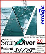 Emagic SoundDiver JV/XP Roland OEM Version 2.0.6 MIDI Software JV1010 1080 2080