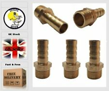 """12mm Hose Barb Tail To 1/4"""" BSP Male Straight Brass Connector Fitting 5pcs   UK"""