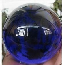HOT Beautiful Blue Crystal Quartz Sphere Ball 60mm +STAND