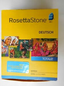 Rosetta Stone Deutsch TOTALe Version 4 German Level 1-5 - Complete Set