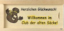 Holzkiste Geldkiste Club der alten Säcke zum Geburtstag ab 50. Geschenkidee 10cm