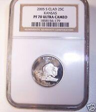 2005-S Kansas State Quarter! NGC Proof 70-Ultra Cameo!