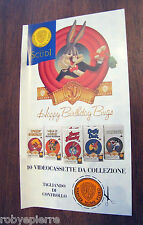 Solo Tagliando di Controllo VHS Gli Scudi BUGS BUNNY Warner Home Video Happy