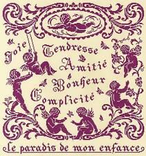 GRILLE POINT de CROIX - LE PARADIS de mon ENFANCE - réf : 8009