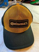 Continental Tire Mesh Back Trucker Style Hat Cap, Yellow/Black