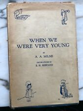 When we were very young 1924 first edition Pooh A.A. Milne Methuen UK