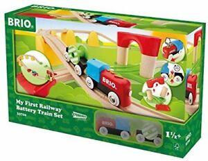 BRIO World 33710 Spielzeug Mein erstes Bahn Set Batterielok Holz Kinder  B-WARE
