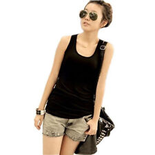 Damen Fitness Longshirt lady Tank Top Shirt Baumwolle Hemd drüber Unterhemd Neu