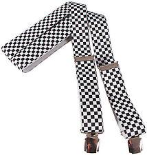 (83650) SUSPENDERS elastic Trouser hanger - nickel-free - F1 RACING CHECK -