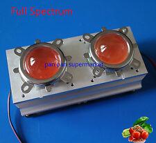 100-200w High Power LED Aluminium HeatSink+200w Full spectrum 400-840nm+lens kit