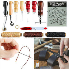 14 Pieces Leather Craft Tools Kit Hand Sewing Stitching Stamping Tool Set