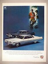 Cadillac Fleetwood Eldorado & Sedan deVille PRINT AD - 1968 ~~ 1969 model