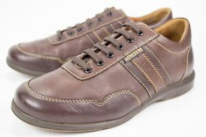Mephisto Bonito Mens Sz 7.5 Air Jet Brown Leather Lace Up Sneaker Walking Shoes