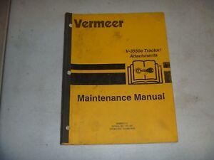 Vermeer Model V-3550A Tractor Trencher Shop Service Repair Manual Book