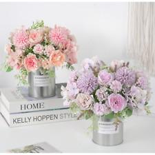 7 Head Peony Artificial Flowers Plastic Bridal Wedding Bouquet Home Art Decor