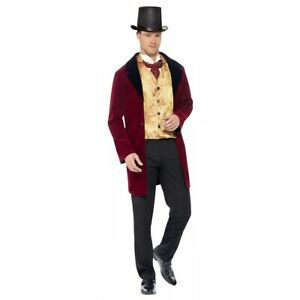 Victorian Costume Adult Mens Outfit Halloween Fancy Dress