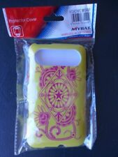 Mybat HTC HD7 HD7S Hard Protective Phone Case Cover Yellow Floral Star