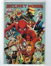 Secret Wars # 1 Dynamic Forces Variant Cover NM Marvel Signed Michael Zeck COA