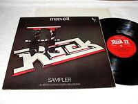 """Rock II - Sampler"" 1980 Rock LP, Nice EX!, Various Artists, Maxell Test Record"
