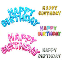 "13Pcs 16"" Foil Balloons for Birthday Party HDecor ''Happy Birthday'' Letters"