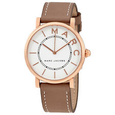 Marc Jacobs Roxy Silver Dial Ladies Cement Leather Watch MJ1533