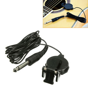 For Ukulele Acoustic Guitar Accessories Microphone Piezo Contact Pickup Clip