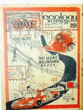 """Newspaper Underground """"The Gar"""" Austin Texas Ecology UT Hippies Drugs 1972"""