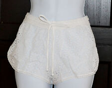 Polo Ralph Lauren St.Tropez Eyelet Shorts Sz L Cover Up White Swimwear (K20)