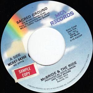 "McBRIDE & THE RIDE - Sacred Ground  7"" 45"