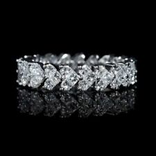 Infinity Band Promise 1.25CT Lab Diamond Sterling Silver Women's Heart  ring
