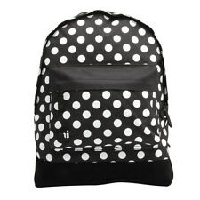 Mié PAC all polka señora mochila mochila mochila negro blanco