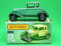 Matchbox Lesney Superfast No.73e Model 'A' Ford In 'L' Box (NO WINDOWS VERSION)