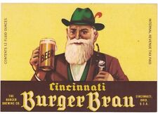 Cincinnati Burger Brau Beer IRTP Label