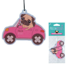 Pugs & Kisses Car Air Freshener Strawberry Pug home Novelty Hanging Freshner